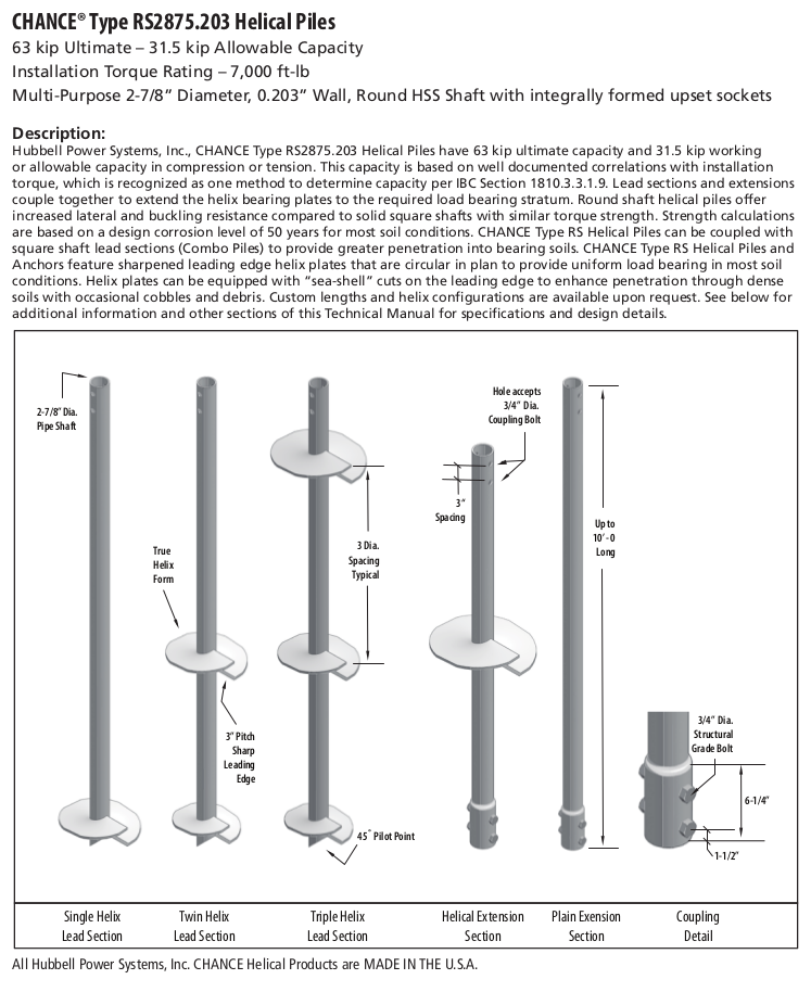 The Northeast's CHANCE Helical Pile Distributor - Blog: Deep